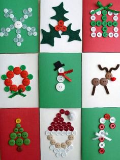 Christmas buttons decor