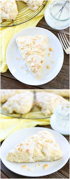 Toasted Coconut Lemon Scones