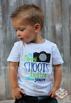 My Mommy SHOOTS better than yours photography pictures Custom Applique Embroidered Boutique shirt toddlers boys girls on Etsy, $25.00