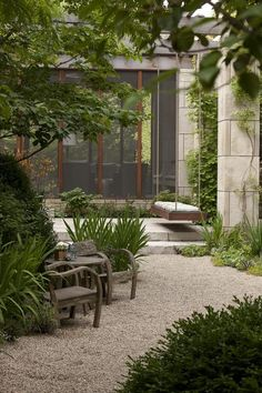 streetofsoulangels: (via Lincoln Park garden designed by Douglas Hoerr | Home/Patio Garden)
