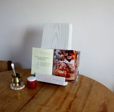 Recipe Book Holder Mother's Day Gifts Cookbook Stand Wooden Book Holder Book…