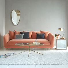 Meet one of this year's most elegant sofas. Thankster sofa in Old Rose vintage velvet