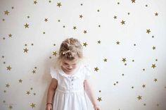 Gold star wall decals star wall stickers nursery by tayostudio
