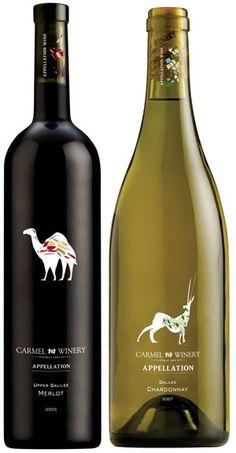 Wine label Carmel