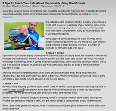 "Credit Card Blog - ""3 Tips to Teach Your Kids About Responsibility Using Credit Cards"""