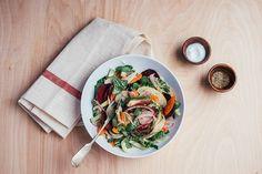 Shaved Vegetable Salad with Apples and Lemony Tahini Dressing recipe on Food52