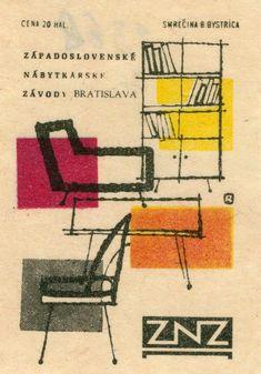 Made in Czechoslovakia Retro Illustration, Graphic Design Illustration, Vintage Illustrations, Illustrations Posters, Vintage Labels, Vintage Ads, Vintage Trends, Vintage Graphic Design, Retro Design