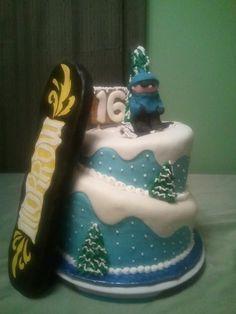 snowboard cake - Google Search