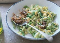 Brussels Sprout Hash with Caramelized Shallots Recipe