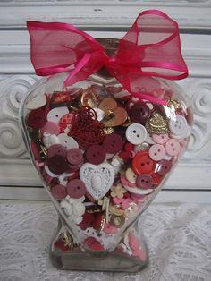 Valentine Button Jar!