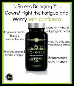 Confianza helps fight daily physical and mental stress. It improves mental focus and helps the body cope with stress. It provides energy needed and restores the body.