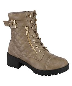 Love this Taupe Quilted Darian Boot on #zulily! #zulilyfinds