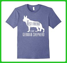 Mens German Shepherd Dog T Shirt MY BEST FRIEND, Gift T-Shirt XL Heather Blue - Animal shirts (*Amazon Partner-Link)