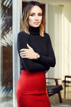 Catt+Sadler's+Go-To+Statement+Piece+for+a+Timeless+Work+Look+via+@WhoWhatWearUK