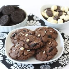 Triple Chocolate Oreo Chunk Cookies....truly some of the very best cookies I have EVER baked. Making a batch today-whoot whoot!