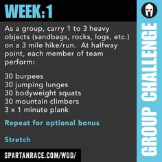 Spartan Race Team Challenge: Group WOD 1.1 - 1.4
