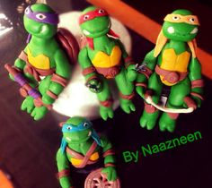 Ninja turtle cake toppers by Naazneen