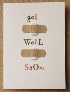 Get well soon :) cute bandage