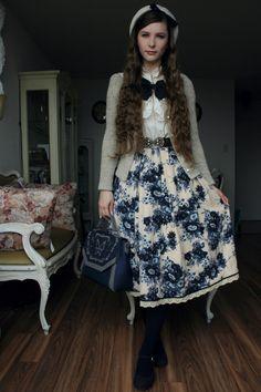 Fanny Rosie: Boutique 1861, Lois Crayon, Axes Femme, Clarks, & Otome Kei. #vintage #outfitofperfection