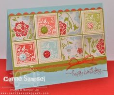 Love this layout with these papers and stamps