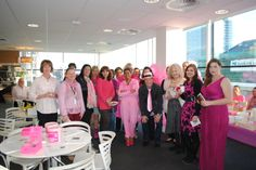 Pink was the colour to be in at Valerie's Breakfast! Fundraising, Your Photos, Ribbon, Colour, Breakfast, Coat, Pink, Fashion, Tape
