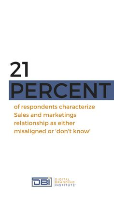 """of respondents characterize Sales and marketings relationship as either misaligned or """"don't know"""". Email Marketing, Content Marketing, Social Media Marketing, Business Goals, Business Tips, Branding Strategies, Search Optimization, Graphic Design Tips, Google Analytics"""