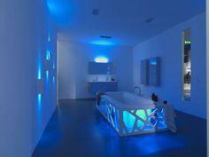 bathtub lights   Artistic Origami Bathtub Design And Lighting Decorating Ideas ...