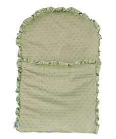 Infants will snooze in cozy bliss when tucked into this snuggly nap mat. Lightweight and firm, it provides the perfect amount of ergonomic support for small backs and can be used for changing, nursing or safely passing Baby from one person to the next. The flexible design rolls up easily while a side zipper makes placing little ones inside a breeze.17'' W x 27'' H x 1'' D