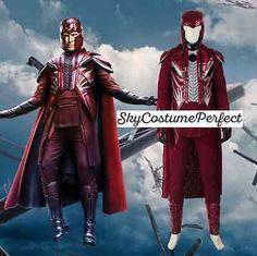 FREE WW SHIP X-Men Magneto Max Eisenhardt Costume Cosplay Marvel DC DISNEY SALE