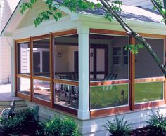 Three-Season Porch with Screen Panels | Small Buildings, Sheds, Cabanas, Porch Systems and Pool Houses from Walpole Woodworkers