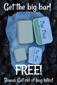 How would you like getting a non-toxic family size bug block bar? For FREE?! This is a pretty sweet offer, and we can all get this deet-free bar at NO COST!!