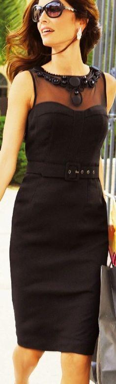 High Fashion (UK) / Kaleidoscope elegant dress #black by ana9112