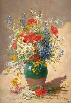 Цветочное... Edmond Van Coppenolle (Belgian, 1846-1914). Обсуждение на LiveInternet - Российский Сервис Онлайн-Дневников