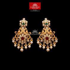 Buy Earrings, Jewelry Design Earrings, Gold Earrings Designs, Earrings Online, Gold Jewellery, Gold Designs, Small Earrings, Jewelery, Gold Bridal Earrings