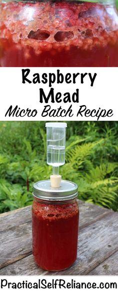 Raspberry Mead – Micro Batch Recipe Raspberry Mead – Micro Batch Recipe — Practical Self Reliance Homemade Wine Recipes, Homemade Alcohol, Homemade Liquor, Kombucha, Fermentation Recipes, Homebrew Recipes, Brewing Recipes, Beer Brewing, Home Brewing