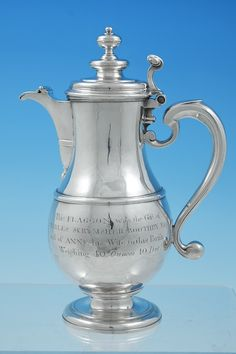 An Outstanding George I Silver Flagon By Joseph Clarke London 1715