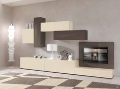 Modern Wall units and Entertainment centers for your modern living room from top Italian and European designers at closeout price. Tv Wall Design, Tv Unit Design, Design Design, Living Room Tv, Home And Living, Dining Room, Contemporary Tv Stands, Etagere Design, Modern Tv Wall Units