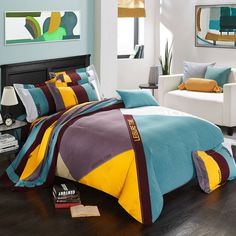 Find More Bedding Sets Information about Contrast Color Autumn Sanding 100% Cotton Bedding Set King Queen Size 4PCS Duvet Cover Set housse de couette ropa de cama,High Quality cover aluminium,China cover fashion Suppliers, Cheap bedding direct from Top Qulity Human Hair Factory on Aliexpress.com