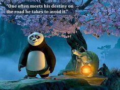 """One often meets his destiny on the road he takes to avoid it."" Kung Fu Panda 2008 Randall Duk Kim Choice vs Destiny - Google Search"