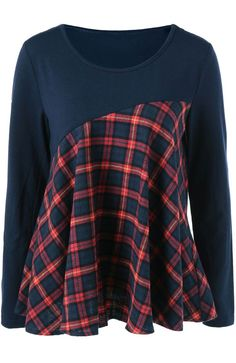 A chic lady will collect all the fashion staff. This casual top is unique with splicing design and classic plaid patter- that is just what you want. Take it at Cupshe.com .