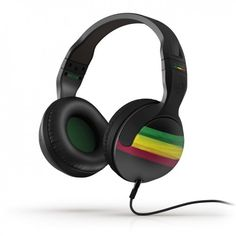 Skull Candy rasta headphones, because I'm rootsing all the time. Jah! OneLove! Peace!