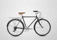 DYAD Montreal Bikes - 7 Speeds Retro Bike Black & Brown.
