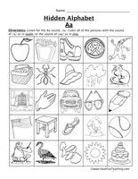 Letter Sounds Worksheets: Listen for the letter sound. Color all the pictures that have that letter sound.  Letter A, Letter B, Letter C, Letter D, Letter E, Letter F, Letter G, Letter H,  Letter I, Letter J, Letter K, Letter L, Letter M, Letter N, Letter O, Letter P,  Letter Q, Letter R, Letter S, Letter T, Letter U, Letter V, Letter W, Letter X,  Letter Y, Letter Z