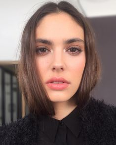 """""""#behindthescenes With @maddiemdawn shooting for Bienne today Hair by @sjshairdesign  Makeup Breakdown: @lorealparisofficial Lumi Foundation -…"""""""