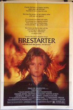 FIRESTARTER - DREW BARRYMORE / DAVID KEITH - ORIGINAL AMERICAN 1SHT MOVIE POSTER