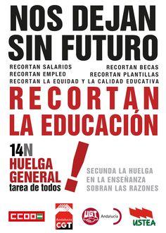 Recortan la Educación. Sobran las razones para el #14N