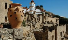 Deserted village only its chuch is renovated. Portal, Greek Island Hopping, Karpathos, Medieval Castle, Jpg, Cool Photos, Amazing Photos, Greek Islands, Countries Of The World