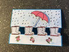 Weather Umbrella, Scrapbook Cards, Scrapbooking, Umbrella Cards, Under My Umbrella, Umbrellas, Stampin Up Cards, Showers, Card Ideas