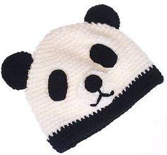 Cozy Knit Toddler Panda Hat