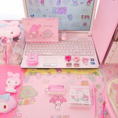 Bedroom Aesthetic Kawaii Ideas For 2019 Pastel Room, Pink Room, Pastel Pink, Ideas Decorar Habitacion, Kawaii Bedroom, Otaku Room, Gaming Room Setup, Gamer Room, My Melody